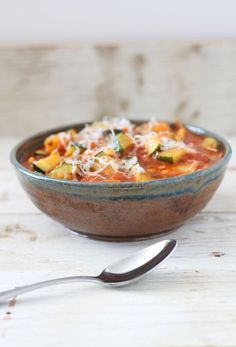 Vegetarian Lasagna Soup by reciperunner #Soup #Lasagna #Healthy