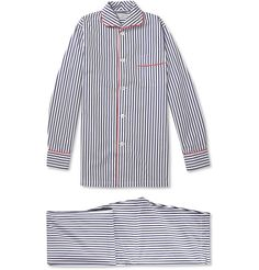 Turnbull & Asser Striped Cotton Pyjamas   MR PORTER