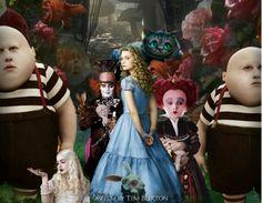 Alice in wonderland, tim burton characters
