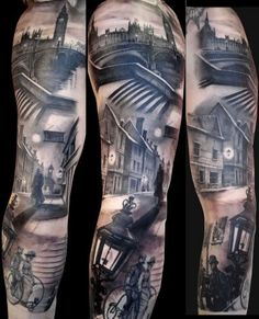 crazy black and grey tattoo
