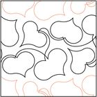 Affection quilting pantograph pattern by Lorien Quilting Quilting Stencils, Quilting Templates, Longarm Quilting, Free Motion Quilting, Quilting Tips, Applique Templates, Hand Quilting, Quilting Stitch Patterns, Machine Quilting Patterns