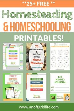 Join our 4500+ newsletter subscribers and get immediate access to our free digital resource library with downloadable journals, eguides, & printable packs. #homeschool #homestead #selfreliance #offthegrid #anoffgridlife