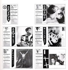 Content pages (The Face, by Neville Brody Neville Brody, Magazine Contents, David Carson, Magazine Layout Design, Content Page, Print Layout, Black And White Design, Deconstruction, Photo Wall