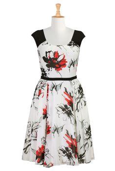 Floral Print Dresses, Chiffon Dresses Plus Size Shop womens long sleeve dresses - Women's Dresses & Tops in Misses, Plus, Petite & Tall | eS...