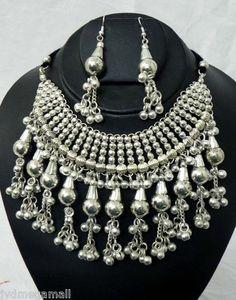NECKLACE Kuchi Belly dance Gypsy Jewelry set choker