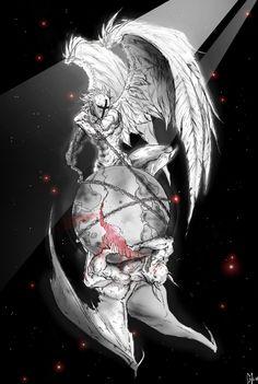 Archangel michael-Nevermore by DraftmanArt on DeviantArt Reaper Tattoo, Demon Tattoo, Angel Warrior Tattoo, Tattoo Drawings, Body Art Tattoos, Sleeve Tattoos, Tattoo Samurai, Archangel Tattoo, Heaven Tattoos