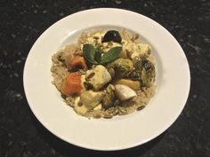Roasted Vegetables with Pepitas and Minted Curry Sauce