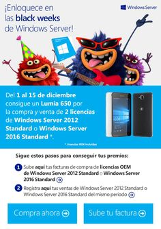 Consigue un Lumia 650 GRATIS con Windows Server