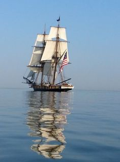 Winner of the Battle of Lake Erie photo contest is Jim Mitchell. Great photo of the Flagship Niagara on Lake Erie. Battle of Lake Erie, near Put-In-Bay, Erie Pennsylvania, Pennsylvania History, Jim Mitchell, Presque Isle State Park, Navy Coast Guard, Uss Constitution, Yacht Builders, Beach Images, Lake Erie