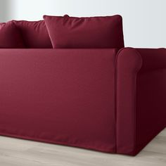IKEA - GRÖNLID, Sectional, corner, Ljungen dark red, This cover's ability to resist abrasion has been tested to handle cycles. cycles or more is suitable for furniture used every day at home. Over cycles means a good ability to resist abrasion. Ektorp Sectional, Landskrona Sofa, Storage Footstool, Deep Seat Cushions, Ikea Family, Large Sofa, Fabric Sofa, Dark Red