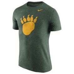 Baylor Bears Nike Logo Plus Tri-Blend T-Shirt - Heather Green