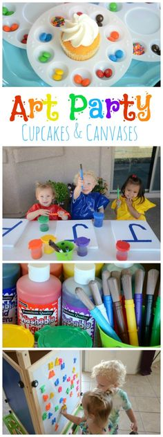 Art Party: Cupcakes and Canvases | The Shopping Mama