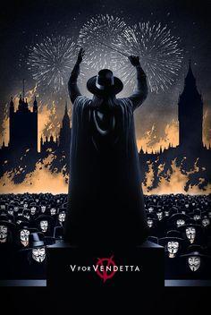 V for Vendetta - movie poster - Marko Manev
