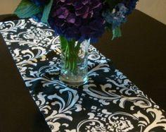 black damask table cloth by LuxuryLinenLoft on Etsy