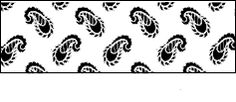 Paisley repeat patterned stencil