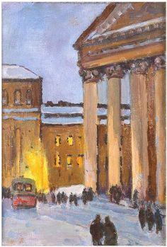 Дубровин Дмитрий Николаевич (1913–2002) «Большой театр. Перед началом спектакля» 1948