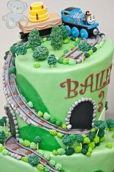 Thomas the Train Birthday Cake. Dream Day Cakes, Gainesville, Florida.