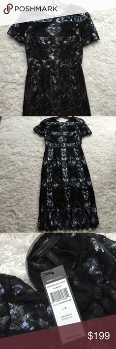 "BCBG Maxazria sequined lace cocktail dress Brand New BCBG Maxazria ""Samara"" sequined and lace cocktail dress.Never worn.  With tag BCBGMaxAzria Dresses Wedding"