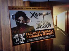 "Michael Jackson's new album ""Xscape"", pre-listening in Toronto, Canada, 14th April 2014"