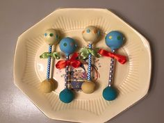Baby rattles cake pops and they actually rattle, made by ivrysdelights.