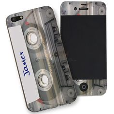 Personalised Cassette iPhone 5 Phone Skin from Personalised Gifts Shop - ONLY Personalised Gifts For Him, Personalized Phone Cases, Gifts Under 10, Cool Phone Cases, Fathers Day Gifts, Gifts For Her, Iphone, Search, Shop