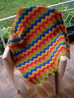 Ravelry: Bev's Baby Ripple Afghan by Beverly A. Qualheim
