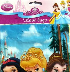 Disney Princess 2 Party Lootbags / Lollybags - 8 Pack