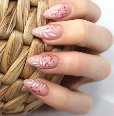 Nail art Christmas - the festive spirit on the nails. Over 70 creative ideas and tutorials - My Nails Nail Art Cute, Cute Nails, Pretty Nails, Hair And Nails, My Nails, Glitter Nails, Nail Manicure, Nail Polish, Stylish Nails