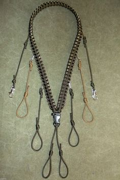 Paracord Duck Call Hunting Lanyard in OD Green and Camo by c2zinn