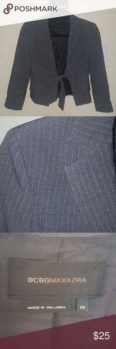 Grey pinstrip Blazer Cute blazer with a tie front. BCBGMaxAzria Jackets & Coats Blazers