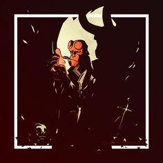 An other vector test. Hellboy fan art.