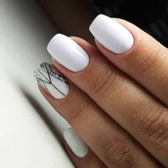 The advantage of the gel is that it allows you to enjoy your French manicure for a long time. There are four different ways to make a French manicure on gel nails. Spring Nail Art, Nail Designs Spring, Simple Nail Designs, White Nail Art, White Nails, Glitter Gel Nails, My Nails, French Nails, Art Deco Nails