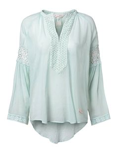 ODD MOLLY, atmosphere l-s blouse, light-turquoise