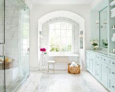 imagem (75)Banheiro estilo provençal em tom branco