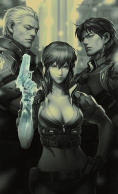 Cyberpunk, Ghost in the shell Manga Anime, Comic Manga, Anime Comics, Manga Art, Anime Art, Fantasy Anime, Chica Fantasy, Sci Fi Fantasy, Science Fiction
