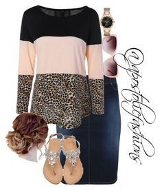 """Apostolic Fashions #1754"" by apostolicfashions on Polyvore featuring Tory Burch and Kate Spade"