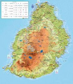 Carte Ile Maurice