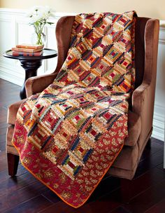 courthouse steps...love log cabin quilts best of all...made one very similar to this one
