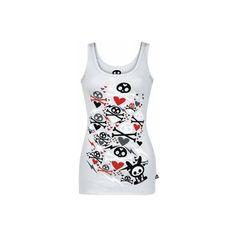 SKELANIMALS | BUNNIES [KLEUR: GRIJS] | GIRLIE TOP | Sleeveless Shirts... ($33) ❤ liked on Polyvore