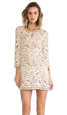 BCBG lace dress, $367