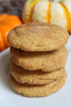 It is time to bust out the pumpkin flavored goodies...I DON'T CARE if it's hot and humid!!  Pumpkin Snickerdoodles