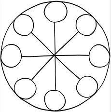 Mandalas zum Ausdrucken und Ausmalen 16 für Kinder