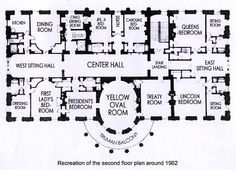 In This Second Floor Plan Depicting The 1962 Use Of Rooms Image From White House Organization