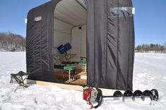 Fabric and metal leading manufacture of custom boat covers, awnings, industrial fabric, shade, repairs and fabric event structures. Ice Fishing Tent, Ice Fishing Shanty, Ice Shanty, Industrial Curtains, Industrial Fabric, Canvas Home, Canvas Crafts, Wall Canvas