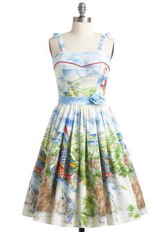 Bernie Dexter Varick Koi to the World Modcloth Dress - Medium #BernieDexter #EmpireWaist #SummerBeach