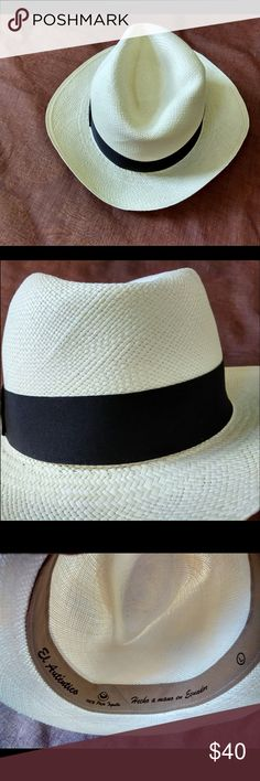 Ecuador Panama Hat Brand new never worn, brought from Ecuador. Lightweight, 100% handmade in Montecristi Ecuador. Made out of Paja Toquilla Plant. Size is 59 (Large). Accessories Hats