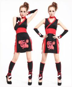 girl ninja outfits | ... about Chic Japanese NINJA Girl Hero Costume Cosplay Skirt Dress
