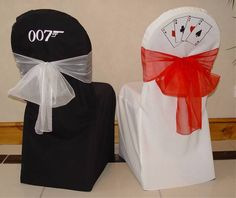 james bond party chairs