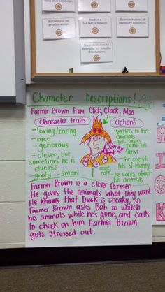 character traits with actions/evidence