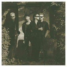 #U2 at #Zentralfriedhof in #Vienna [#Austria - 23th May 1992]  Photo By: ©Herb Ritts [@herbritts] #u2memes #u2newsit #bono #bonovox #theedge #adamclayton #larrymullenjr #cemetery #monumentary #wien #wien #band #rockband #music #90s #90smusic #photography #herbritts #herbrittsphotography #photo #sephia #austria#vienna#irish #irishmusic #irishrock